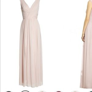 Dressy collection blush bridesmaid dress
